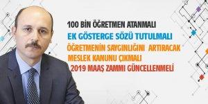 Talip Geylan'dan 100 Bin Atama, Meslek Kanunu ve Maaş Zammı Açıklaması