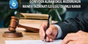 Görevden Alınan Okul Müdürünün Manevi Tazminatı ile İlgili Karar