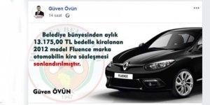 Saadetli Başkanın iddiası: Aylık 13 bin TL bedelle Fluence kiralanmış