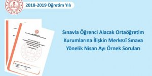 LGS Nisan 2019 Örnek Sorular Yayımlandı