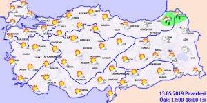 Meteoroloji duyurdu! Sıcaklıklar artıyor...13 Mayıs 2019 Hava durumu