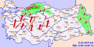 Meteoroloji'den kuvvetli yağış uyarısı!Hava durumu 21 Mayıs 2019