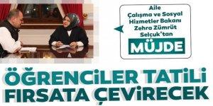 Bakan Selçuk'tan müjde: Öğrenciler tatili fırsata çevirecek