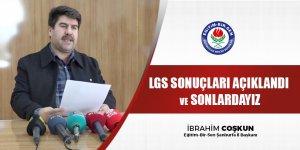 LGS Sonuçlarında Dip Yapınca, Fatura İl Müdürüne Çıktı!