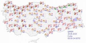 Sıcaklık ülke genelinde artacak