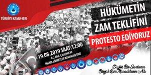 Türkiye Kamu-Sen Meydanlara İniyor! Zam Teklifini Protesto!