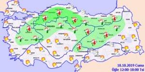Hava sıcaklığı bazı bölgelerde azalmaya başladı!18 Ekim 2019