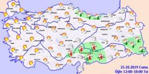İç ve batı bölgelerinde havalar soğuyacak!Hava durumu 25 Ekim 2019