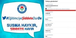 #EğitimciyeŞiddeteDURde Türkiye Gündemine Oturdu!