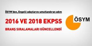 ÖSYM, EKPSS branş sıralamalarını güncelledi