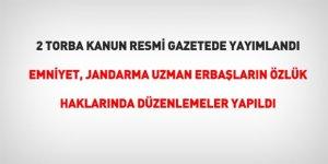 2 torba kanun Resmi Gazete'de yayımlandı