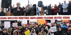 Eğitim-Bir-Sen'den Atama bekleyen öğretmen adaylarının eylemine destek