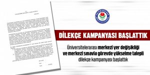 Üniversitede çalışan memurlar dilekçe kampanyası başlattı