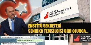 Hacı Bayram Veli Üniversitesi'nde Neler Oluyor? Talip Geylan'dan Sert Tepki!