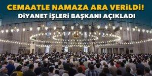 Diyanet, Cuma ve vakit namazlarının camide kılınmasına ara verdi