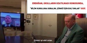 Erdoğan, Bakanlar ile görüştü... Okulların tatil süresi uzatılıyor