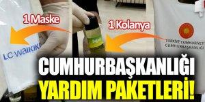 Kolonya ve maske dağıtımı başladı: Pakette Erdoğan'ın mektubu da var