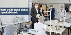 Ali Yalçın'dan  Maske üretimi yapılan okullara ziyaret