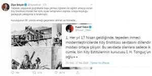 Ziya Selçuk ve Yusuf Tekin'in Köy Enstitüsü Paylaşımları - MEB'deki Eski ve Yeni Yönetim Anlayışı