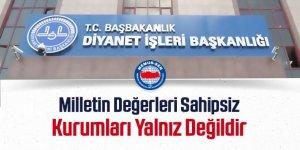 Memur-Sen'den Ali Erbaş'a Destek: Milletin Değerleri Sahipsiz Değildir!