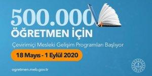 MEB'den 500 bin öğretmene uzaktan eğitim fırsatı