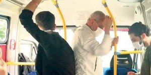 Minibüste sosyal mesafe unutuldu: Ücretler elden ele