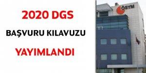 2020 DGS başvuru kılavuzu yayımlandı