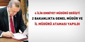 Bakanlıklarda 2 Genel Müdür, 4 Emniyet Müdürü, 2 İl Müdürü Ataması!
