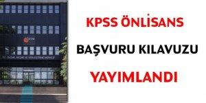 KPSS önlisans başvuru kılavuzu yayımlandı