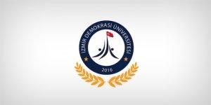 İzmir Demokrasi Üniversitesi Öğretim Üyesi Alım İlanı