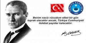 """Önder Kahveci:""""Türkiye Cumhuriyeti 97 Yıllık Dev Bir Çınar, Kutlu Olsun"""""""