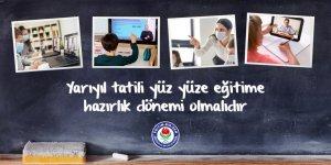 """Eğitim-Bir-Sen:""""Yarıyıl tatili yüz yüze eğitime hazırlık dönemi olmalıdır"""""""