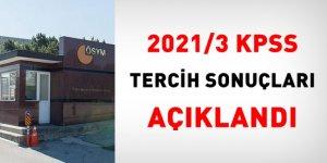 ÖSYM, 2021/3 KPSS tercih sonuçlarını açıkladı