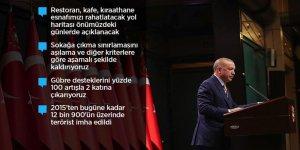 Erdoğan: Mart başından itibaren kısıtlamalar kademeli olarak kalkacak