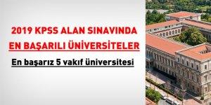 2019 KPSS alan sınavında en başarılı üniversiteler