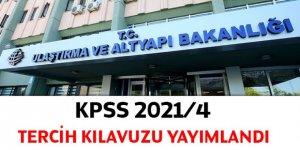 KPSS 2021/4 tercih kılavuzu yayımlandı