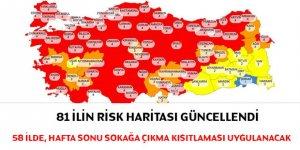 81 ilin risk haritası güncellendi... İşte çok yüksek riskli iller