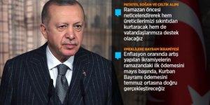 Cumhurbaşkanı Erdoğan, bayram ikramiyeleri için tarih verdi