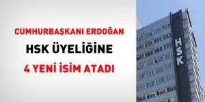 Cumhurbaşkanı Erdoğan 4 ismi HSK üyeliğine atadı