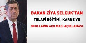 Bakan Ziya Selçuk'tan telafi eğitimi, karne ve okulların açılması açıklaması