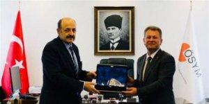 YÖK Başkanı Saraç'tan ÖSYM Başkanı Aygün'e veda ziyareti