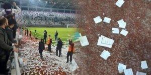 Maç esnasında sahaya Kur'an-ı Kerim'den yapma konfeti atıldı!