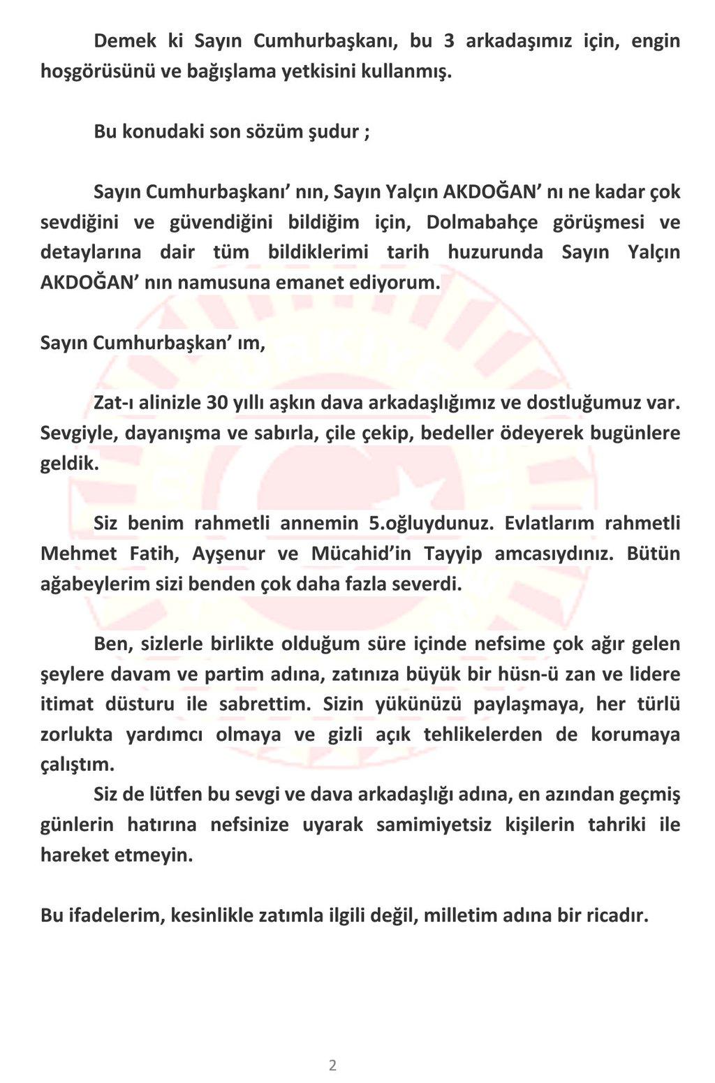 Bülent Arınç, Erdoğan'ın sözlerine olay yanıt!