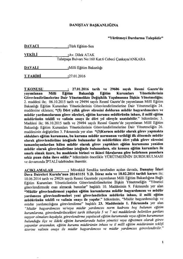 MEB Yönetici <a href=https://www.kamugundemi.com/Atama-haberleri.html title='Atama haberleri'><strong>Atama</strong></a> Yönetmeliğine ŞOK Dava!