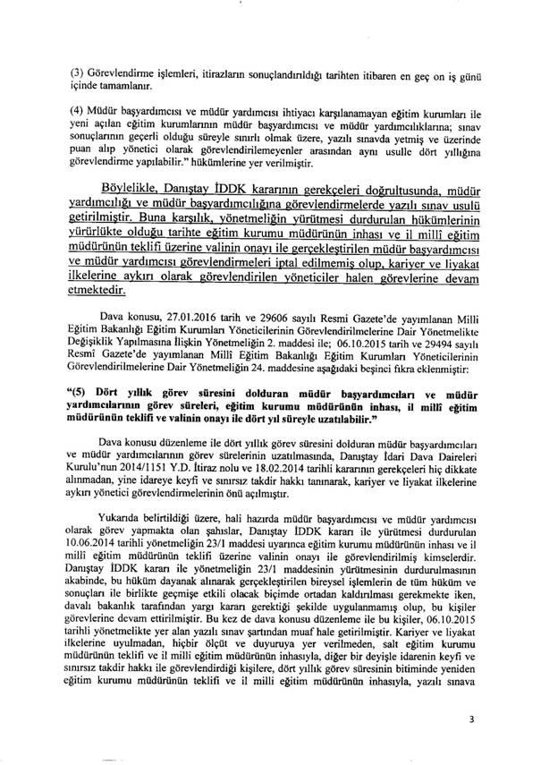 MEB Yönetici Atama Yönetmeliğine ŞOK Dava!