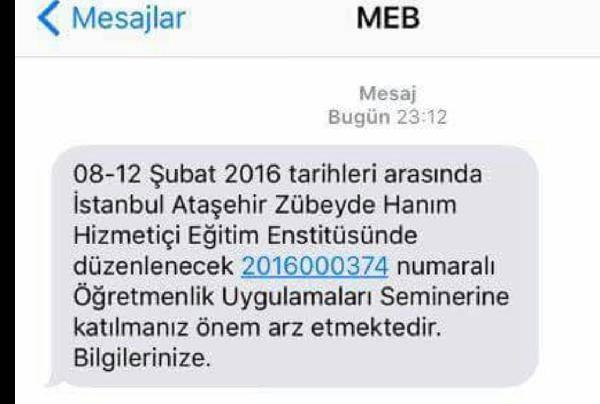 MEB'den Öğretmenlere SMS Uyarısı