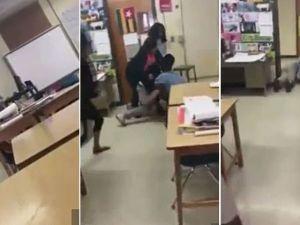 Öğrenci, öğretmene acımasızca saldırdı