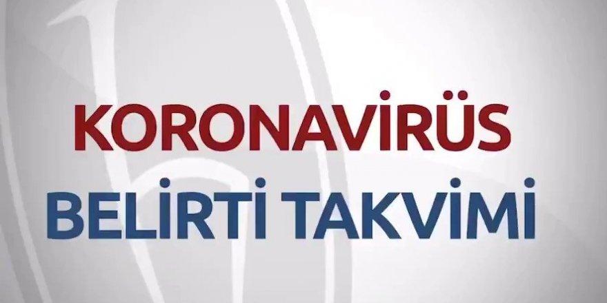 Hacettepe Üniversitesi Korona Virüsü Belirti Takvimi