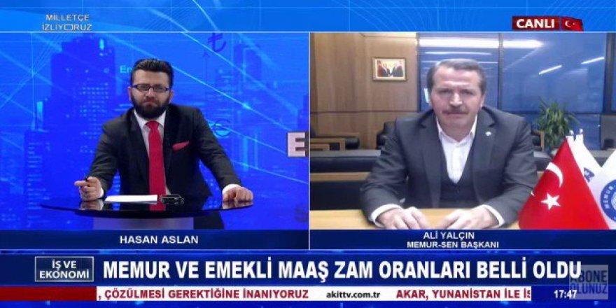 Ali Yalçın, Hükümetten Memurlar İçin Seyyanen Zam İstedi