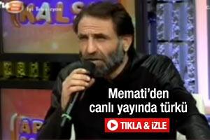 Memati'den canlı yayında türkü